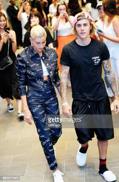Justin Bieber and Hailey Baldwin out and about in Dumbo on July 5 2018