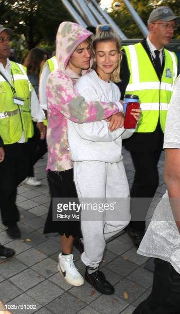 Justin Bieber and Hailey Baldwin seen at the London Eye on September 18 2018 in London England