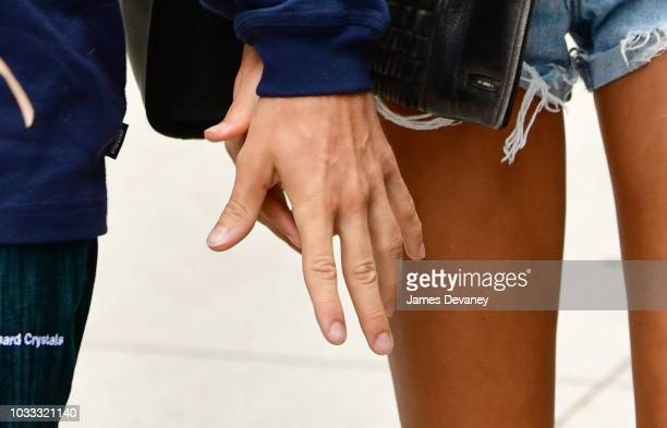 Justin Bieber and Hailey Baldwin seen on the streets of Brooklyn on September 14 2018 in New York City