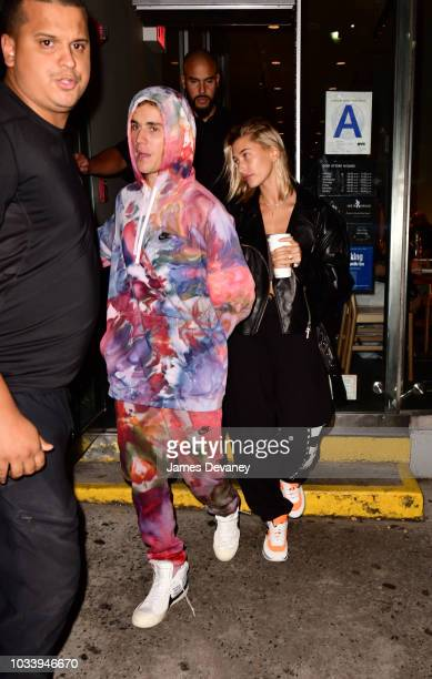 Justin Bieber and Hailey Baldwin seen on the streets of Manhattan on September 15 2018 in New York City