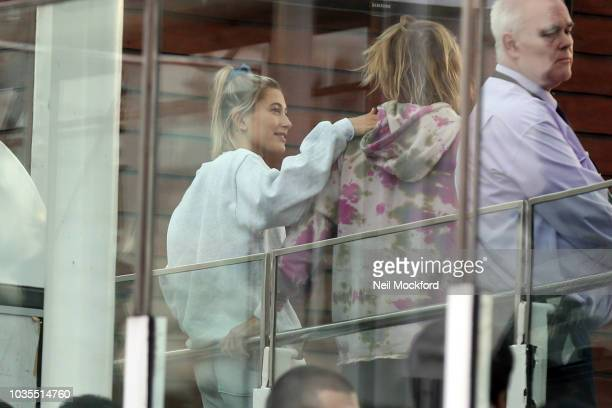 A wide shot of Justin Bieber and Hailey Baldwin on the London Eye on September 18 2018 in London England