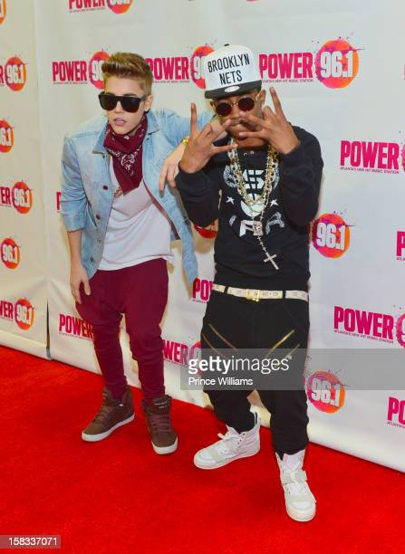 Justin Bieber and Lil Twist attend Power 961's Jingle Ball 2012 at Phillips Arena on December 12 2012 in Atlanta Georgia