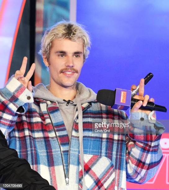 "Justin Bieber appears onstage at MTV's ""Fresh Out Live"" on February 07 2020 in New York City"