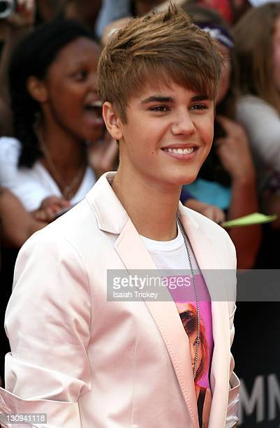 Justin Bieber arrives at the 2011 MuchMusic Video Awards at MuchMusic HQ on June 19 2011 in Toronto Canada
