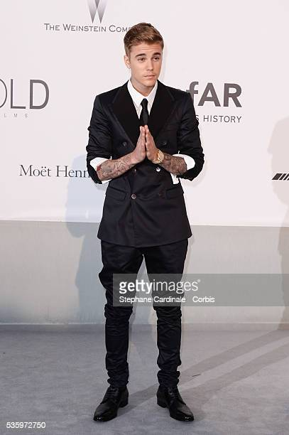 Justin Bieber at the amfAR's 21st Cinema Against AIDS Gala at Hotel du Cap-Eden-Roc during the 67th Cannes Film Festival
