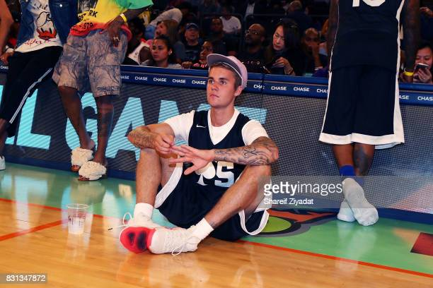 Justin Bieber attends 2017 Aces Charity Celebrity Basketball Game at Madison Square Garden on August 13 2017 in New York City