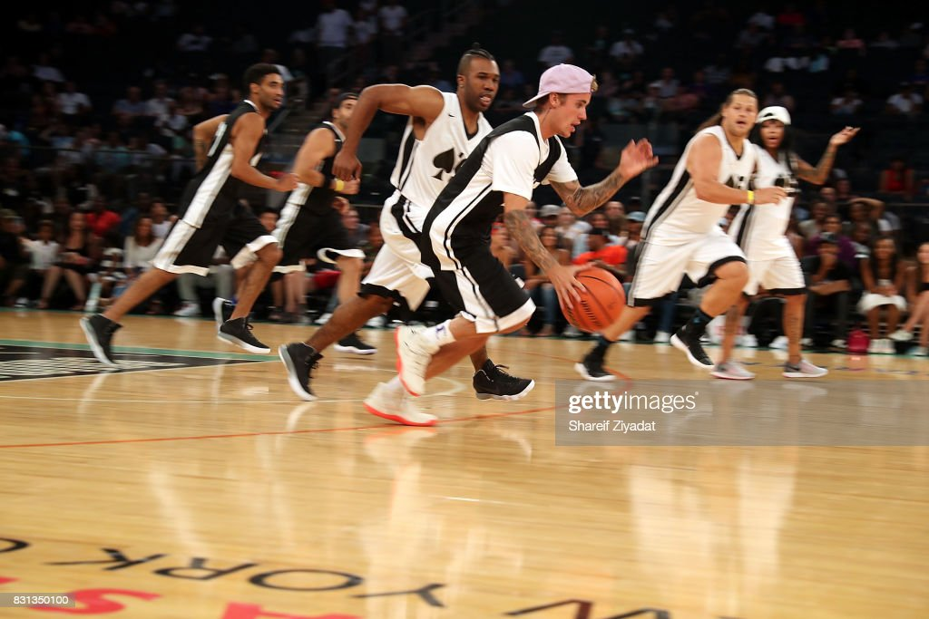 Justin Bieber attends 2017 Aces Charity Celebrity Basketball Game at Madison Square Garden on August 13, 2017 in New York City.