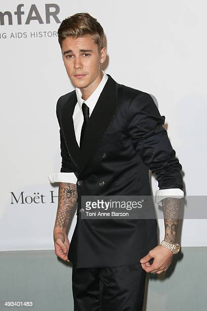 Justin Bieber attends amfAR's 21st Cinema Against AIDS Gala, Presented By WORLDVIEW, BOLD FILMS, And BVLGARI at the 67th Annual Cannes Film Festival...
