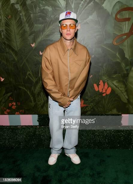 Justin Bieber attends h.wood Group's grand openingof Delilah at Wynn Las Vegas on July 10, 2021 in Las Vegas, Nevada.