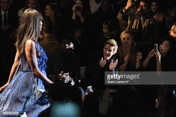 Justin Bieber attends Naomi Campbell's Fashion For Relief Charity Fashion Show during Mercedes-Benz Fashion Week Fall 2015 at The Theatre at Lincoln...