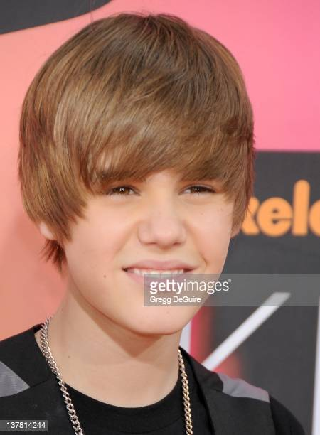 Justin Bieber attends Nickelodeon's 23rd Annual Kids' Choice Awards held at Pauley Pavilion at UCLA on March 27, 2010 in Los Angeles, California.
