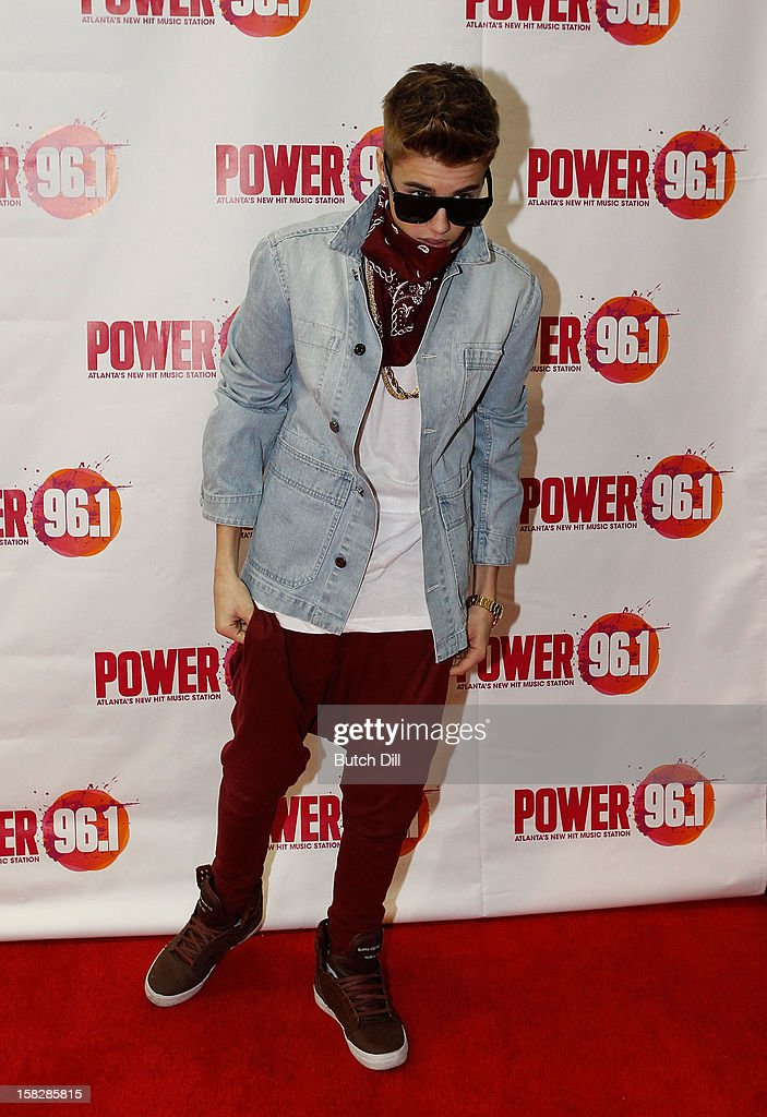 Justin Bieber attends Power 96.1's Jingle Ball 2012 at the Philips Arena on December 12, 2012 in Atlanta.