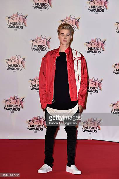Justin Bieber attends the 17th NRJ Music Awards at Palais des Festivals on November 7 2015 in Cannes France