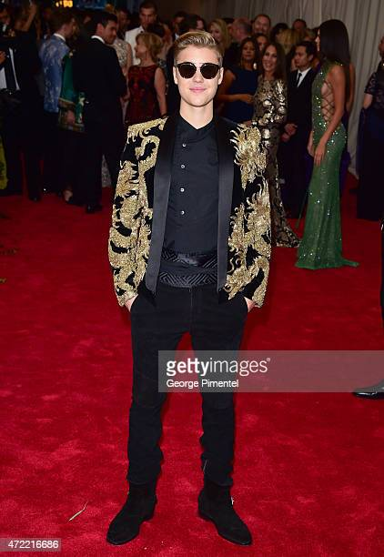 Justin Bieber attends the 'China Through The Looking Glass' Costume Institute Benefit Gala at Metropolitan Museum of Art on May 4 2015 in New York...