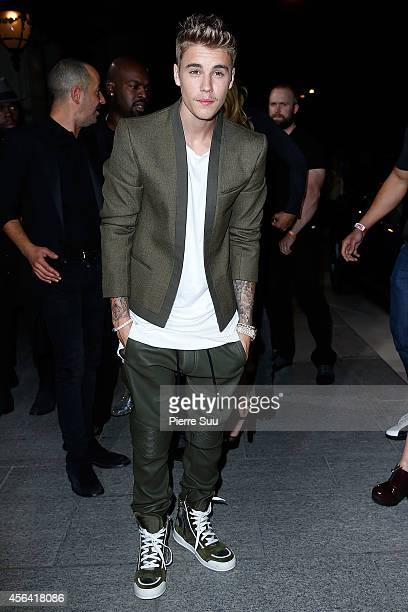 Justin Bieber attends the CR Fashion Book Issue N°5 launch party as part of the Paris Fashion Week Womenswear Spring/Summer 2015 on September 30 2014...