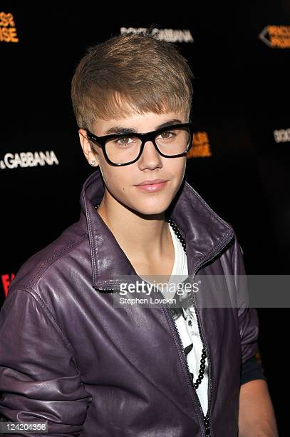 Justin Bieber attends the Dolce Gabbana celebration during Fashion's Night Out at Dolce Gabbana Boutique on September 8 2011 in New York City