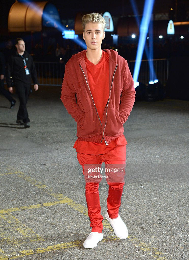 Justin Bieber attends the MTV EMA's 2015 at Mediolanum Forum on October 25, 2015 in Milan, Italy.