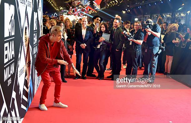 Justin Bieber attends the MTV EMA's 2015 at the Mediolanum Forum on October 25 2015 in Milan Italy