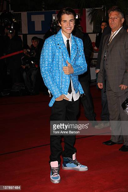 Justin Bieber attends the NRJ Music Awards 2012 at Palais des Festivals on January 28, 2012 in Cannes, France.