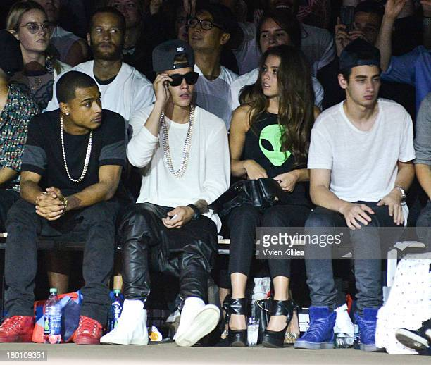 Justin Bieber attends the Opening Ceremony fashion show during MercedesBenz Fashion Week Spring 2014 at SuperPier 25 on September 8 2013 in New York...