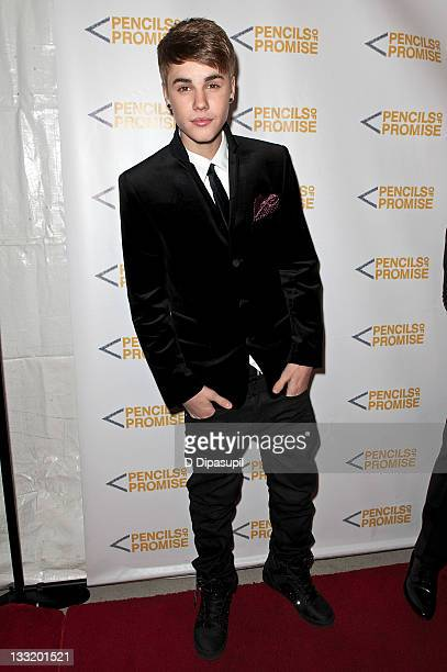 Justin Bieber attends the Pencils of Promise 2011 charity gala at Espace on November 17 2011 in New York City