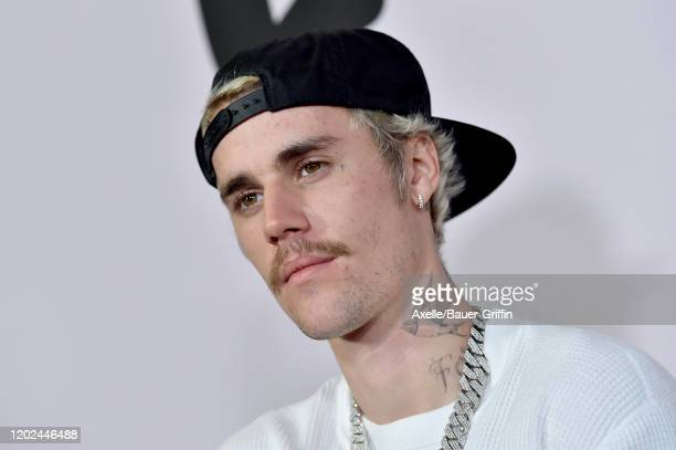 """Justin Bieber attends the Premiere of YouTube Original's """"Justin Bieber: Seasons"""" at Regency Bruin Theatre on January 27, 2020 in Los Angeles,..."""
