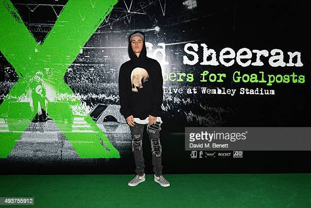Justin Bieber attends the World Premiere of 'Ed Sheeran Jumpers For Goalposts' at Odeon Leicester Square on October 22 2015 in London England