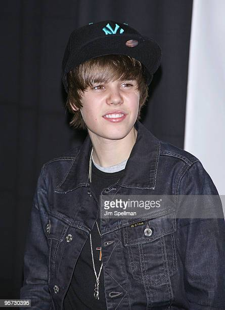 Justin Bieber attends the Z100s Jingle Ball 2009 presented by HM at Madison Square Garden on December 11 2009 in New York City