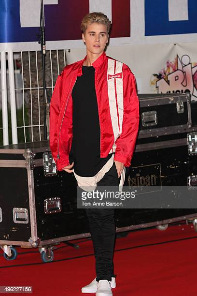 Justin Bieber attends the17th NRJ Music Awards at Palais des Festivals on November 7, 2015 in Cannes, France.