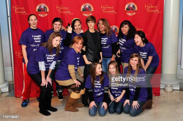 Justin Bieber fans attend the Justin Bieber wax figure unveiling at Madame Tussauds on March 15 2011 in New York City