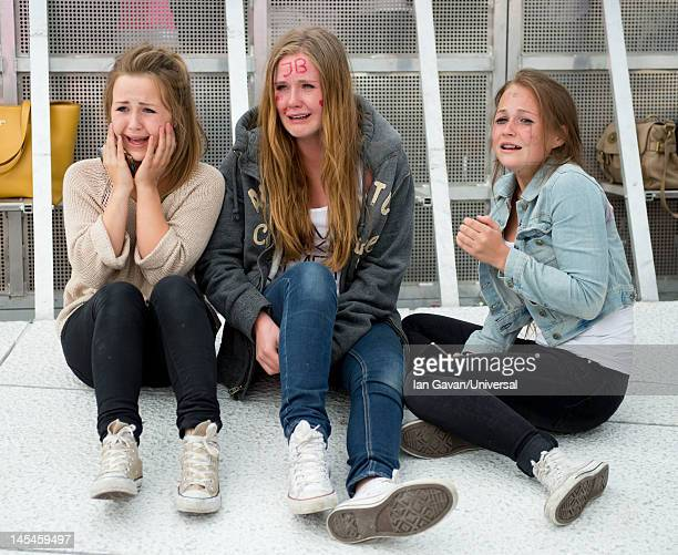 Justin Bieber fans gather prior to Justin Biebers performance at the Opera House on May 30 2012 in Oslo Norway