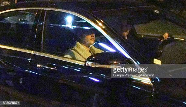 Justin Bieber is seen in the passenger seat of a car on November 21 2016 in Barcelona Spain