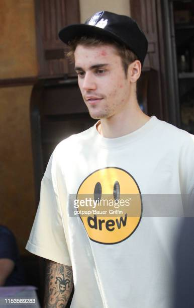 Justin Bieber is seen on July 03 2019 in Los Angeles California