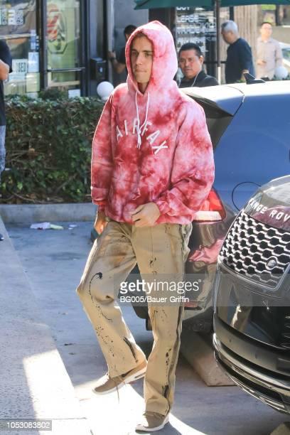 Justin Bieber is seen on October 24 2018 in Los Angeles California