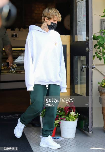 Justin Bieber is seen on September 23 2020 in Los Angeles California
