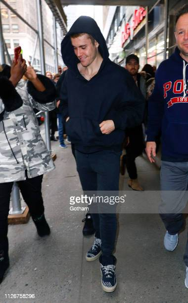 Justin Bieber is seen out and about on February 22 2019 in New York City