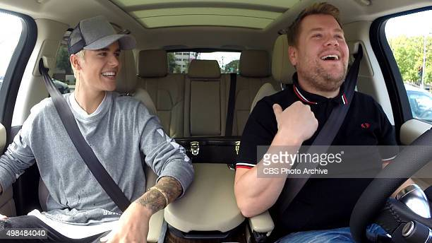 Justin Bieber joins James Corden for Carpool Karaoke on THE LATE LATE SHOW with JAMES CORDEN Wednesday November 18 on The CBS Television Network...