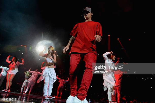 Justin Bieber on stage during the MTV EMA's 2015 at the Mediolanum Forum on October 25 2015 in Milan Italy