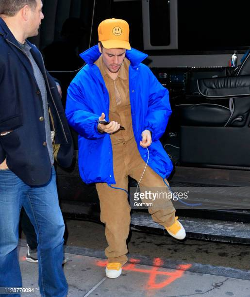 Justin Bieber out and about on March 5 2019 in New York City