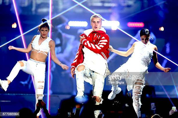 Justin Bieber performs at Boardwalk Hall Arena on Friday July 15, 2016 in Atlantic City, New Jersey.