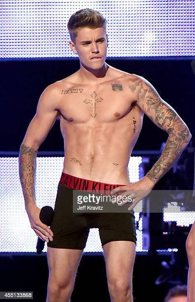 Justin Bieber performs at Fashion Rocks 2014 on September 9 2014 in New York United States
