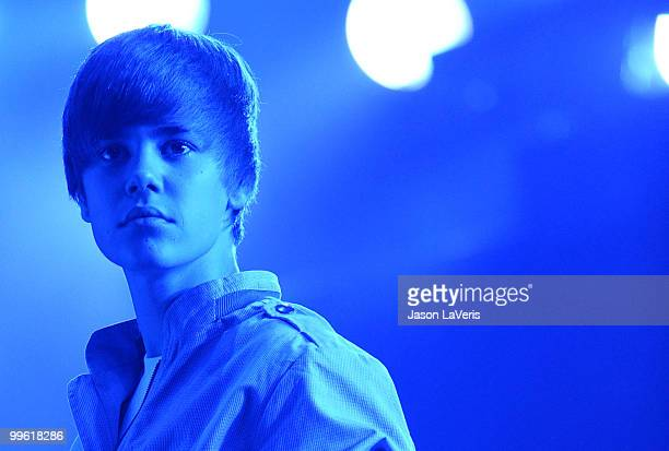 Justin Bieber performs at KIIS FM's 2010 Wango Tango concert at Staples Center on May 15 2010 in Los Angeles California