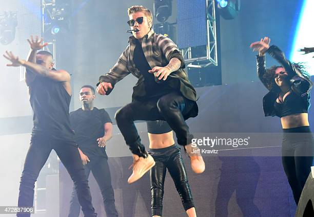 Justin Bieber performs at StubHub Center on May 9, 2015 in Los Angeles, California.