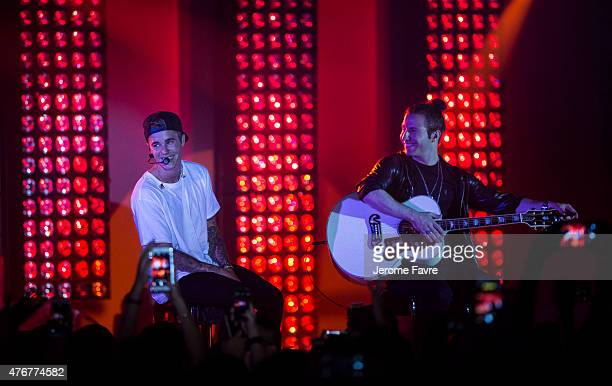 Justin Bieber performs at the Calvin Klein Jeans music event in Hong Kong with special appearance from Justin Bieber and performances by Jay Park...