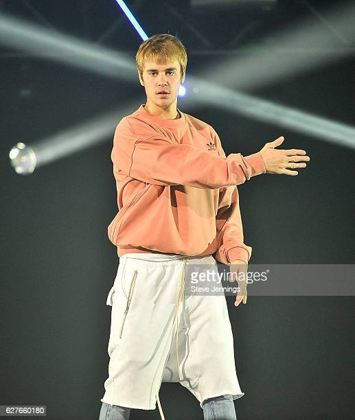 Justin Bieber performs at the NOW 99.7 Triple Ho Show 7.0 at SAP Center on December 3, 2016 in San Jose, California.