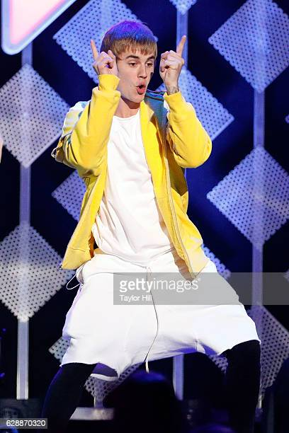 Justin Bieber performs during the 2016 Z100 Jingle Ball at Madison Square Garden on December 9 2016 in New York City