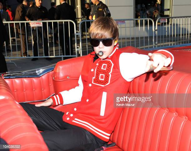 Justin Bieber performs on stage at the 2010 MTV Video Music Awards held at Nokia Theatre LA Live on September 12 2010 in Los Angeles California