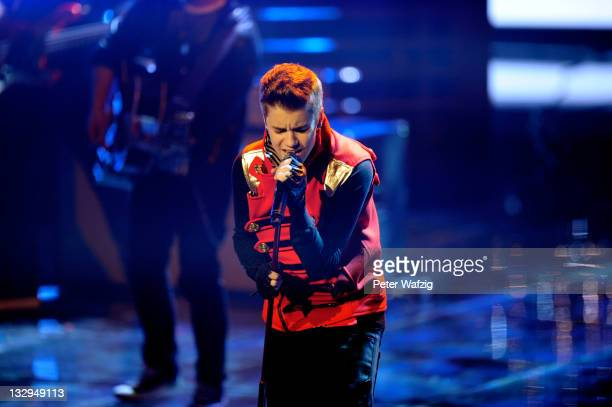 Justin Bieber performs on stage during 'The X Factor Live' TVShow on November 15 2011 in Cologne Germany