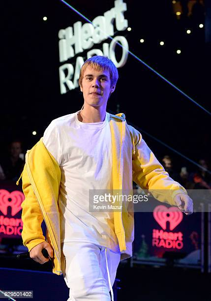 Justin Bieber performs onstage during Z100's Jingle Ball 2016 at Madison Square Garden on December 9 2016 in New York New York