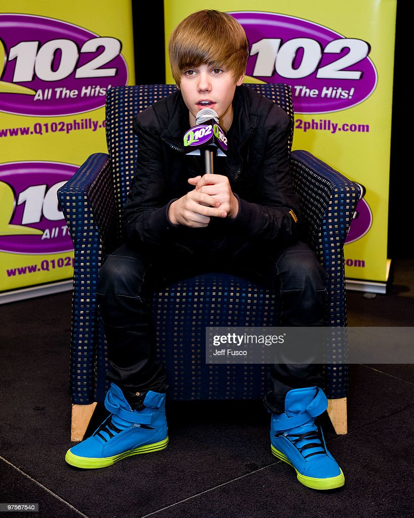 Q102 hosts meet and greet with justin bieber photos and images justin bieber poses during a meet and greet to promote his new cd my world kristyandbryce Gallery
